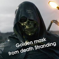 golden mask death stranding 3D model