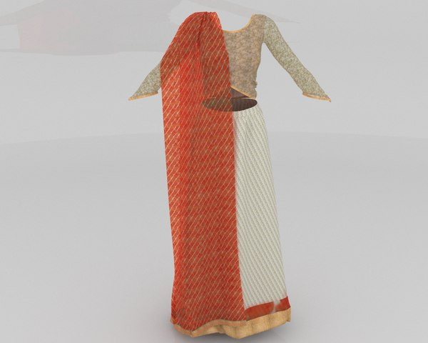 stylish designer indian women 3D model