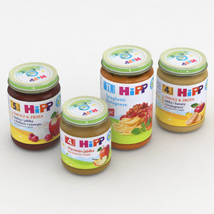 3D model baby food jar