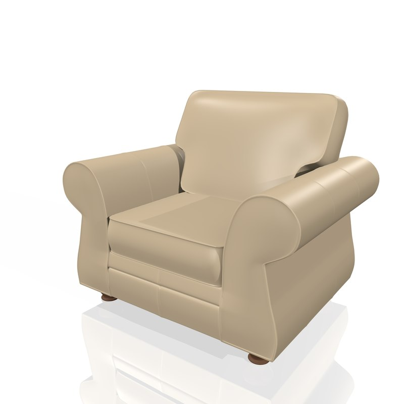 realistic armchair chair model