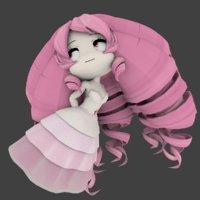 3D rose quartz chibi