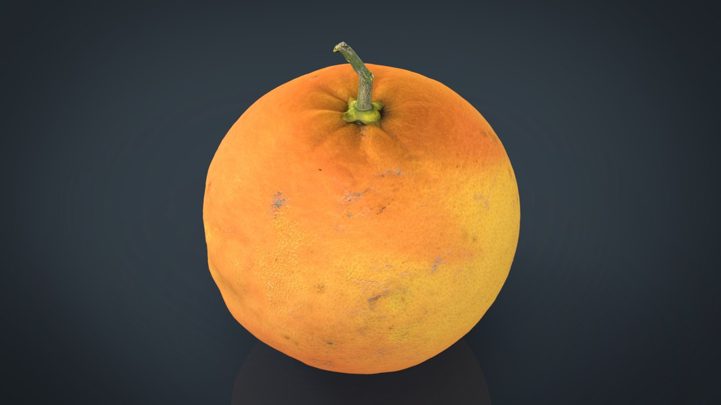 3D model fruit food