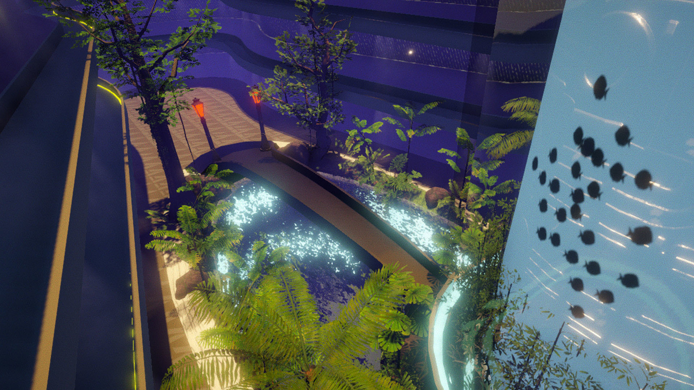 sci-fi environment unity 3D model