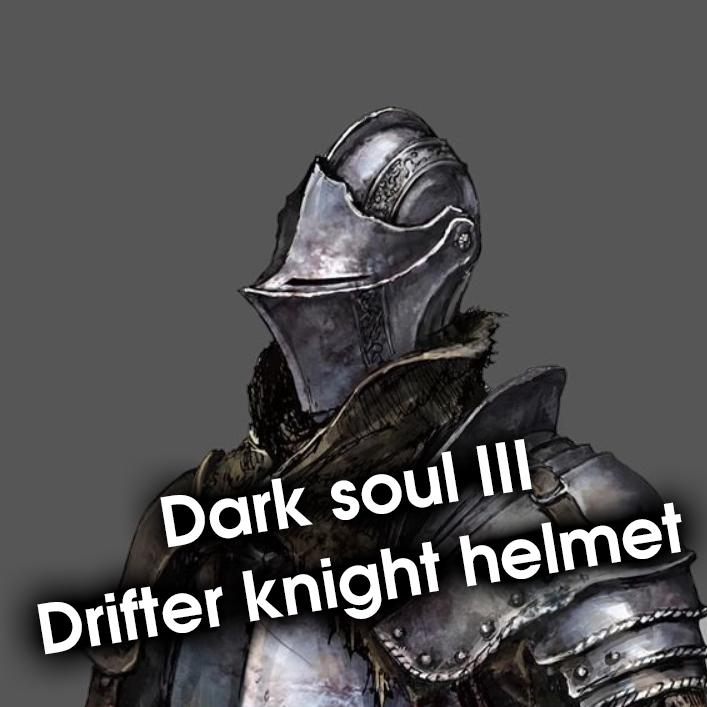 Dark souls 3 drifter knight helmet 3dprint