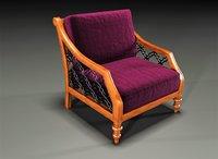 3D armchair chair arm model
