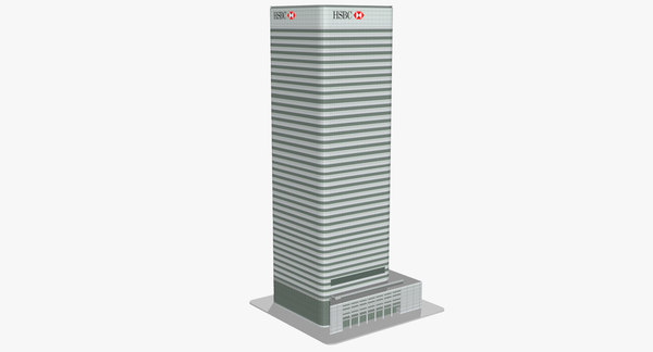 hsbc tower london 3D model