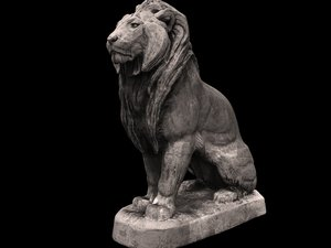 lion sculpture 3D