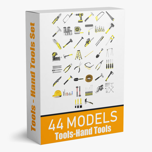 3D model tools hand 44 modeled