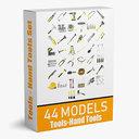 3D model tools hand 44 modeled