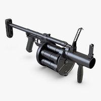 3D rg-6 grenade launcher model