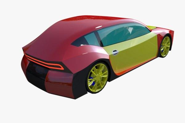 fictional car 3D model