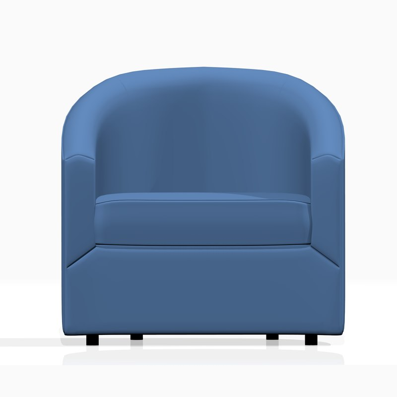 realistic armchair furniture 3D model
