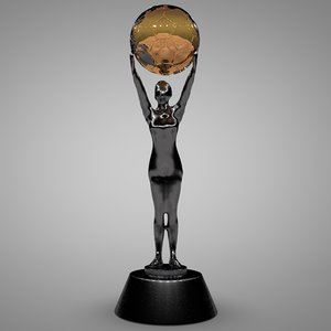 3D soccer trophy l050