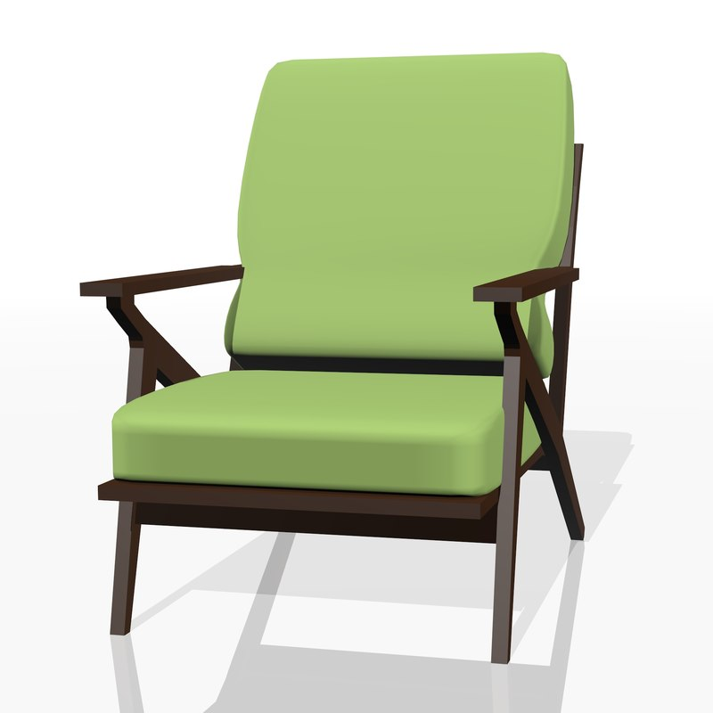 3D realistic chair furniture