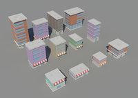 3D isometric buildings model