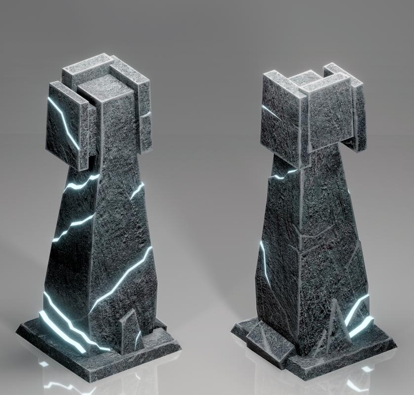 3D model tower games