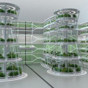 3D hydroponics vertical farm