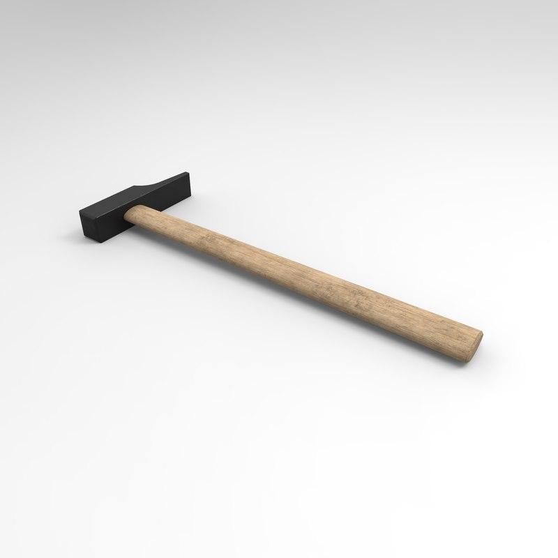 cabinetmaker hammer 3D