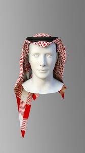 3D model saudi shemagh