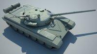 soviet mbt t-72a 3D model