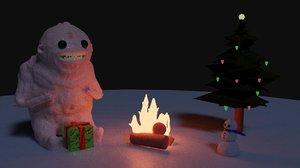 ugly scene christmas 3D model
