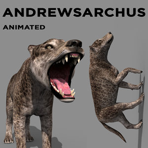 3D andrewsarchus - animation