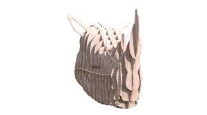 rhino s head ribs 3D