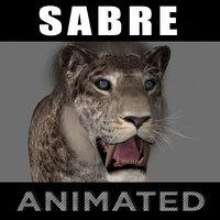 3D model female sabretooth - animation