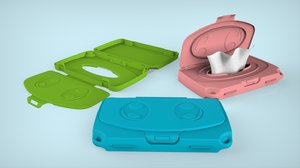 3D baby wipes case