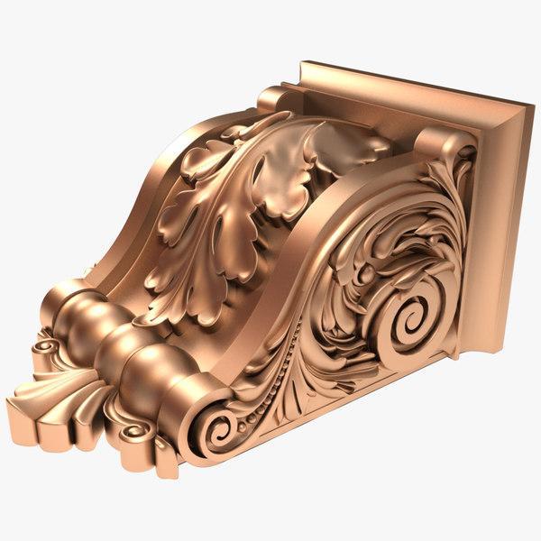 3D model corbel x3