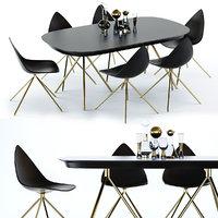 3D model ottawa table chair