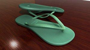 3D slipper havaianas model