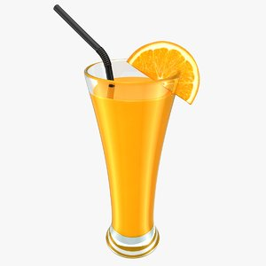 3D realistic orange juice model