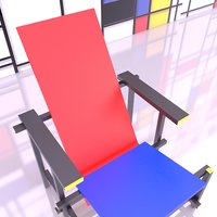 gerrit rietveld chair old 3D model