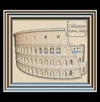 3D colosseum panno stl file model