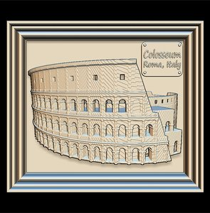 3D colosseum panno stl file model
