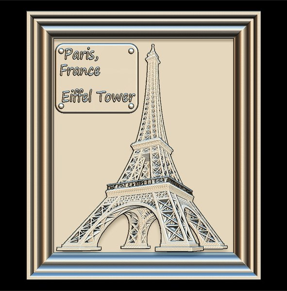 eiffel tower panno stl file model