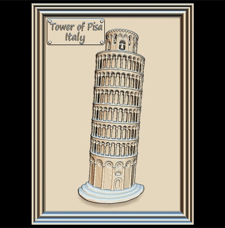 leaning tower pisa panno 3D model