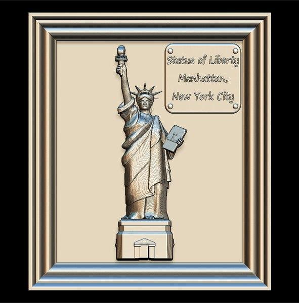 3D liberty statue panno stl file