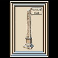 3D obelisk hieroglyphs panno stl file model