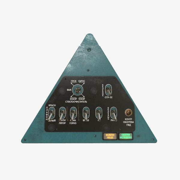 3D model left triangular panels board