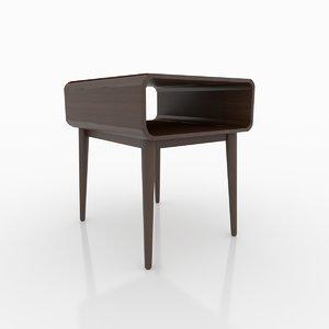 3D portland end table