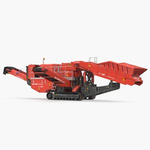 hydraulic cone crusher machine 3D model