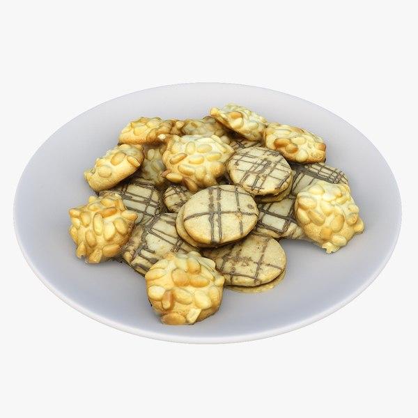 3D model christmas cookies plate