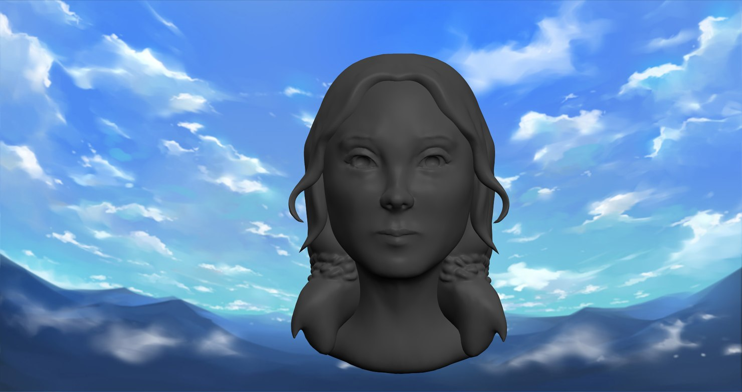 Female Head Sculpt