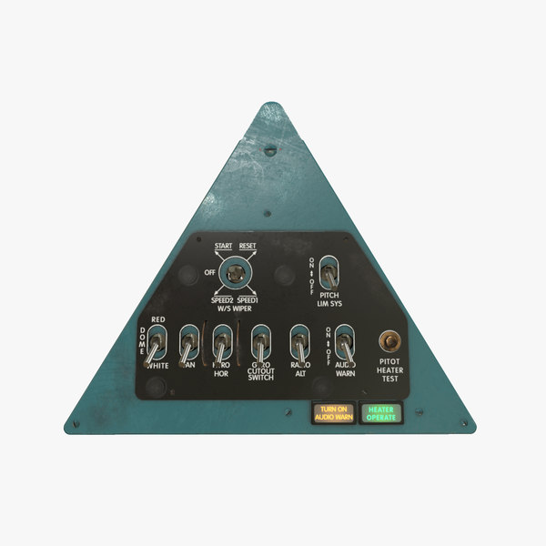3D left triangular panels board model