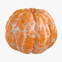 realistic peeled mandarin model
