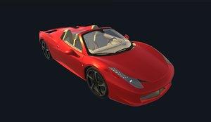 realistic car interior ready 3D model