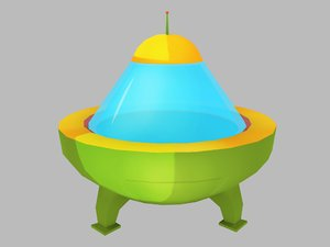 3D ufo cartoon