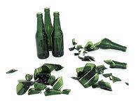 broken bottle 3D model